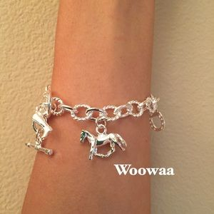 Auth sterling silver 925 horse
